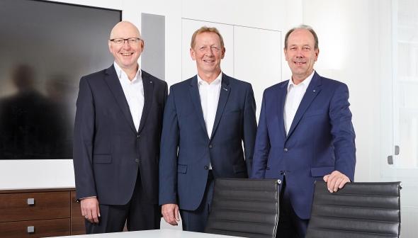 (v.l.n.r.) Thomas Balk, Hans-Georg Germeroth, Hartmut Apel